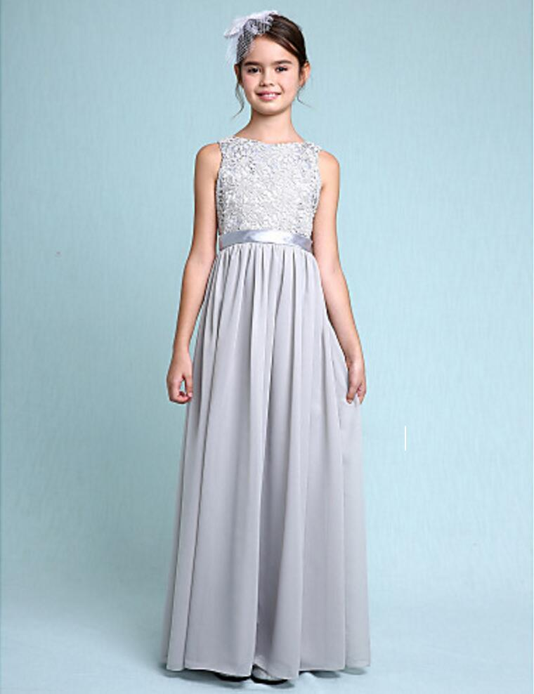 679f8b3c914 2017 Bateau A Line Floor Length Chiffon Lace Junior Bridesmaid Dress For  Kids Wedding Girls Christmas Dresses Dress For Girl Dress Long From  Lucy dress