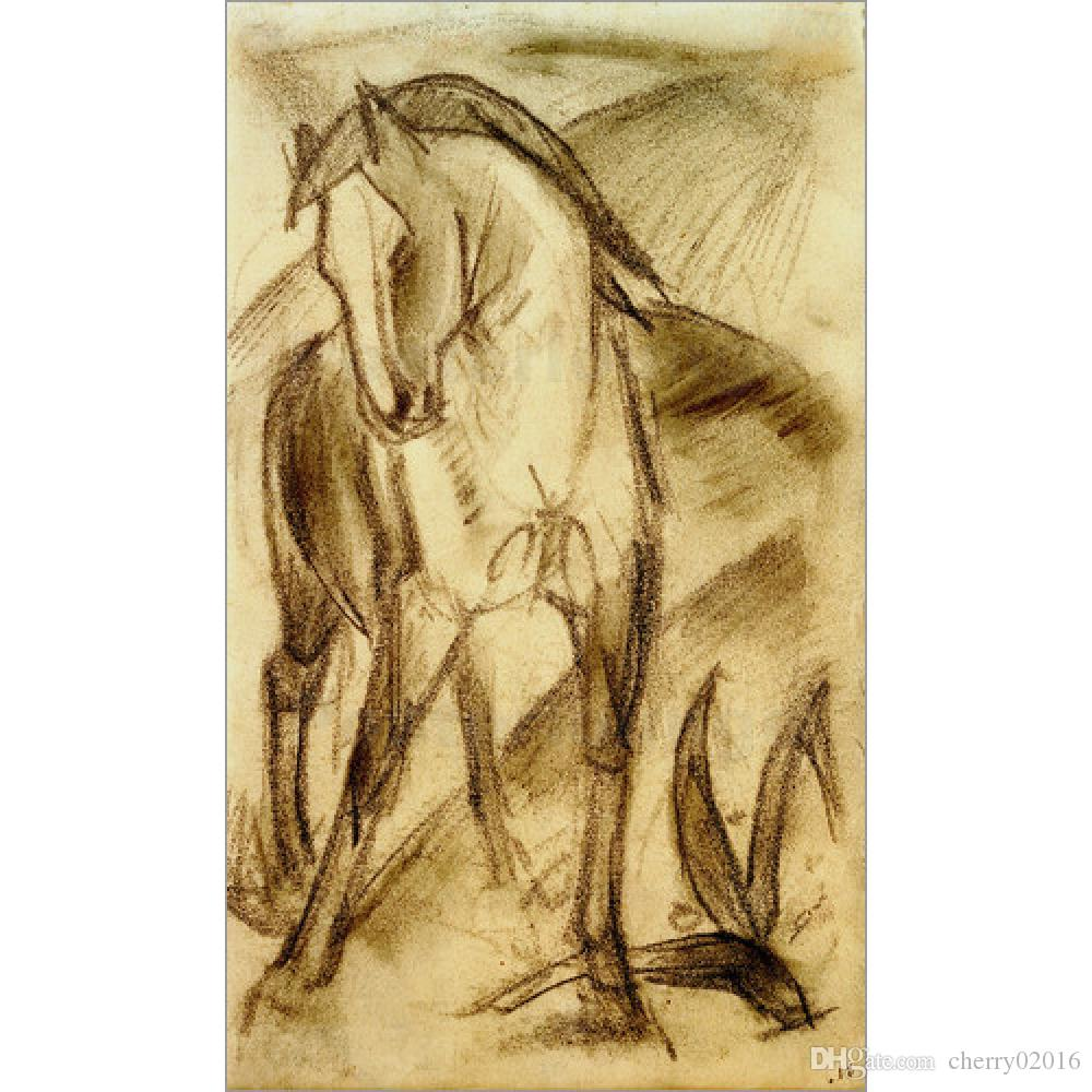 Franz Marc Artwork Reproduction Young Horse in Mountain Landscape ...