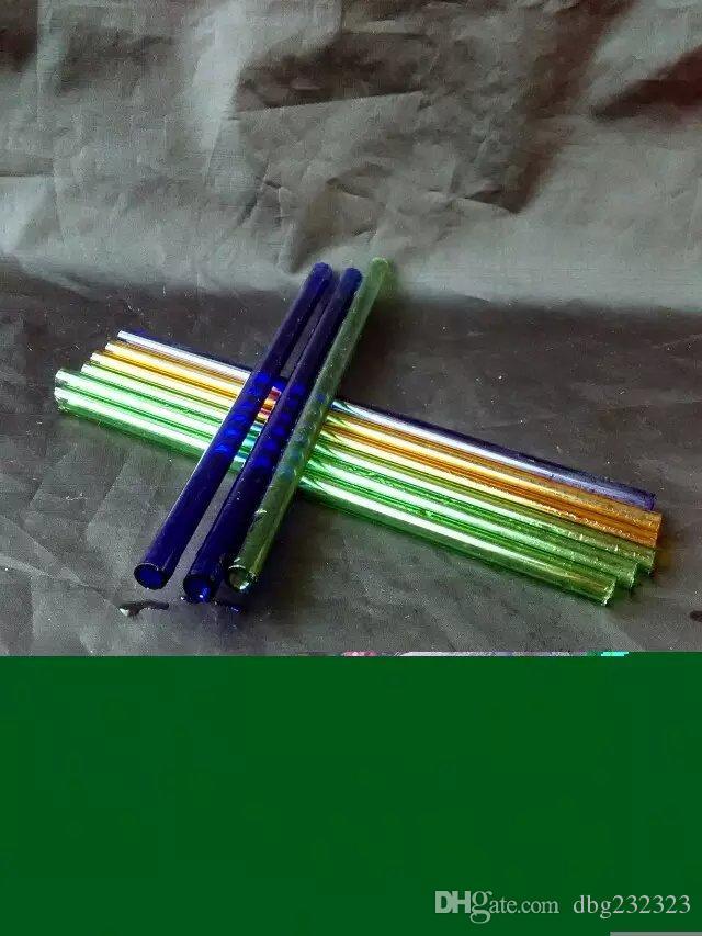 Accesorios de bongs de cristal de paja de color directo, tubos de fumar de vidrio colores mini multi colores Tubos de mano de Best Spoon glas