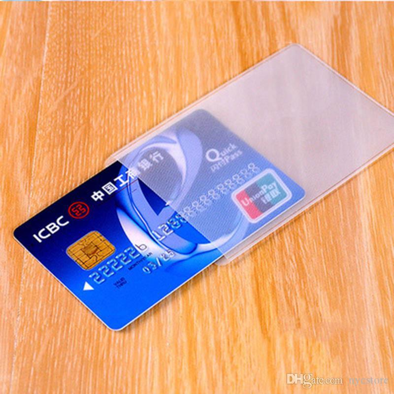 / Universel Étanche ID Porte-Badge PVC Porte-Carte D'affaires ID Carte Couverture Banque Carte CasTransparent Holder
