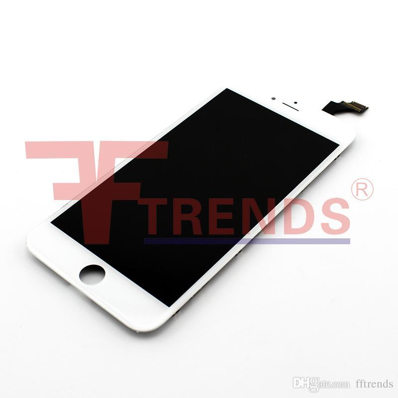 Hohe Qualität für iPhone 6 Ersatz-LCD-Display Touch Digitizer Full Assembly Schwarz Weiß Cold Frame Press 100% getestet