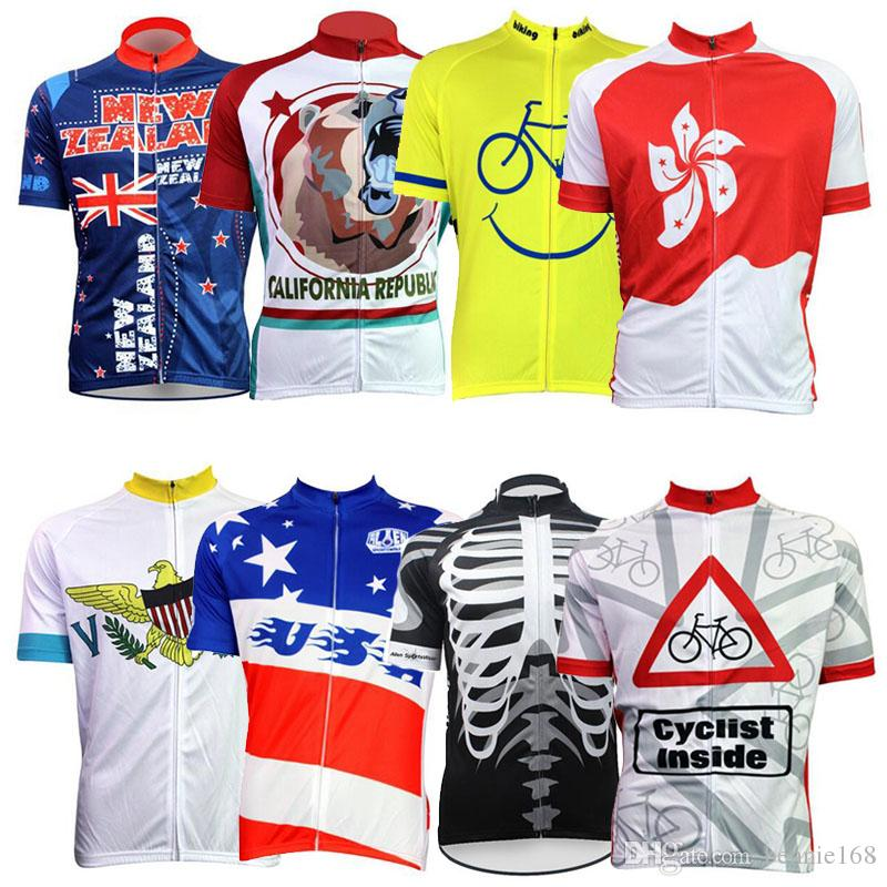 New Zealand Cartoon Cycling Jerseys Short Sleeves Summer Style 2017 ... 2200aa195