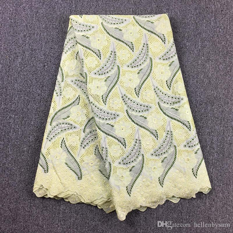 Высокое качество Африканский швейцарский шнурок маркизета 066, бесплатная доставка 5 ярдов / упак., 100% хлопок Африканская свадебная одежда шнурка маркизета