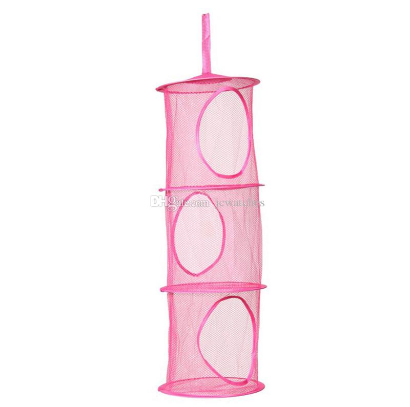 3 estantes Colgando Bolsa de almacenamiento Organizador en red Dormitorio Puerta Pared Armario Organizadores es