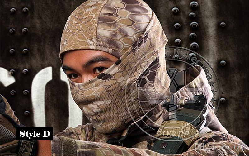 Multicam Sports Camo Balaclava Airsoft Hunting Outdoor Camouflage Army Cycling Motorcycle Cap Hats Full Face Mask