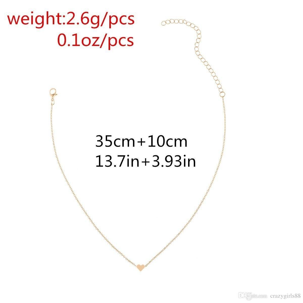 Joyería de las mujeres colgante de plata oro GF corazón gargantilla Chunky collar babero de cadena