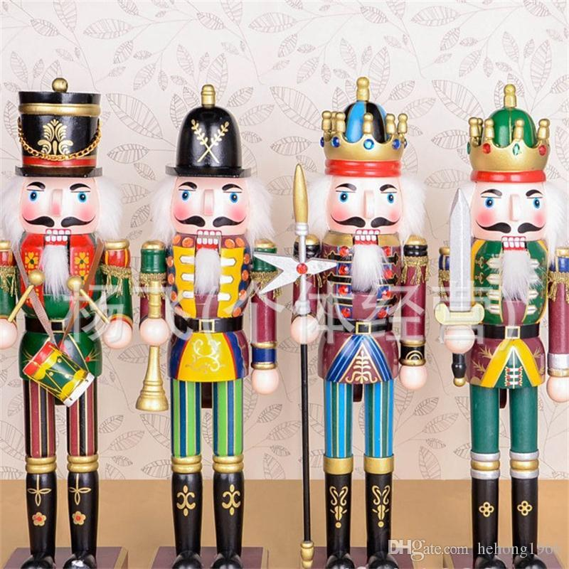 Walnut Soldier Pure Hand Drawing Wooden Nutcracker Puppet