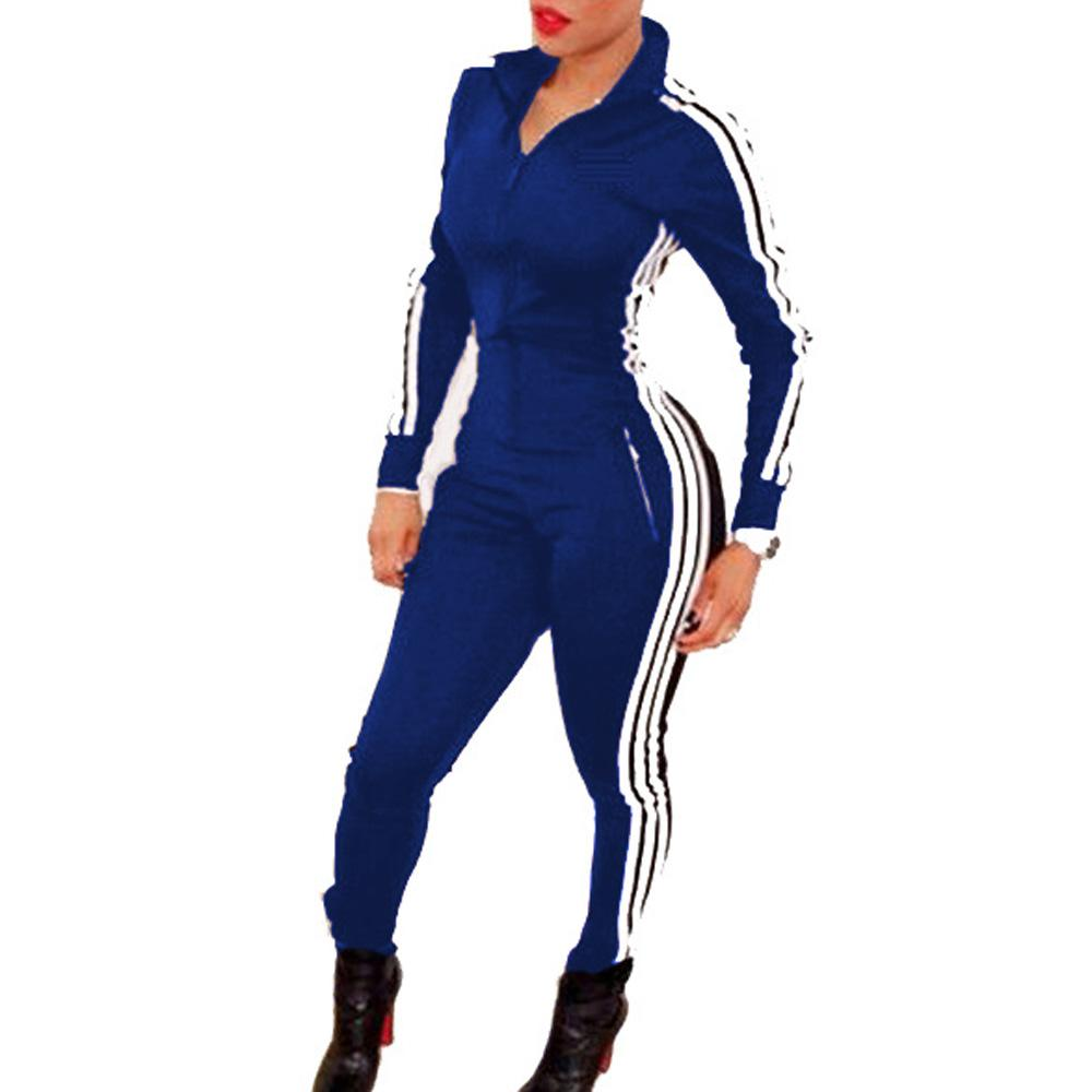 0b287f088fe Wholesale- Blue White Striped Girls Rompers Womens Jumpsuit Stretchy ...