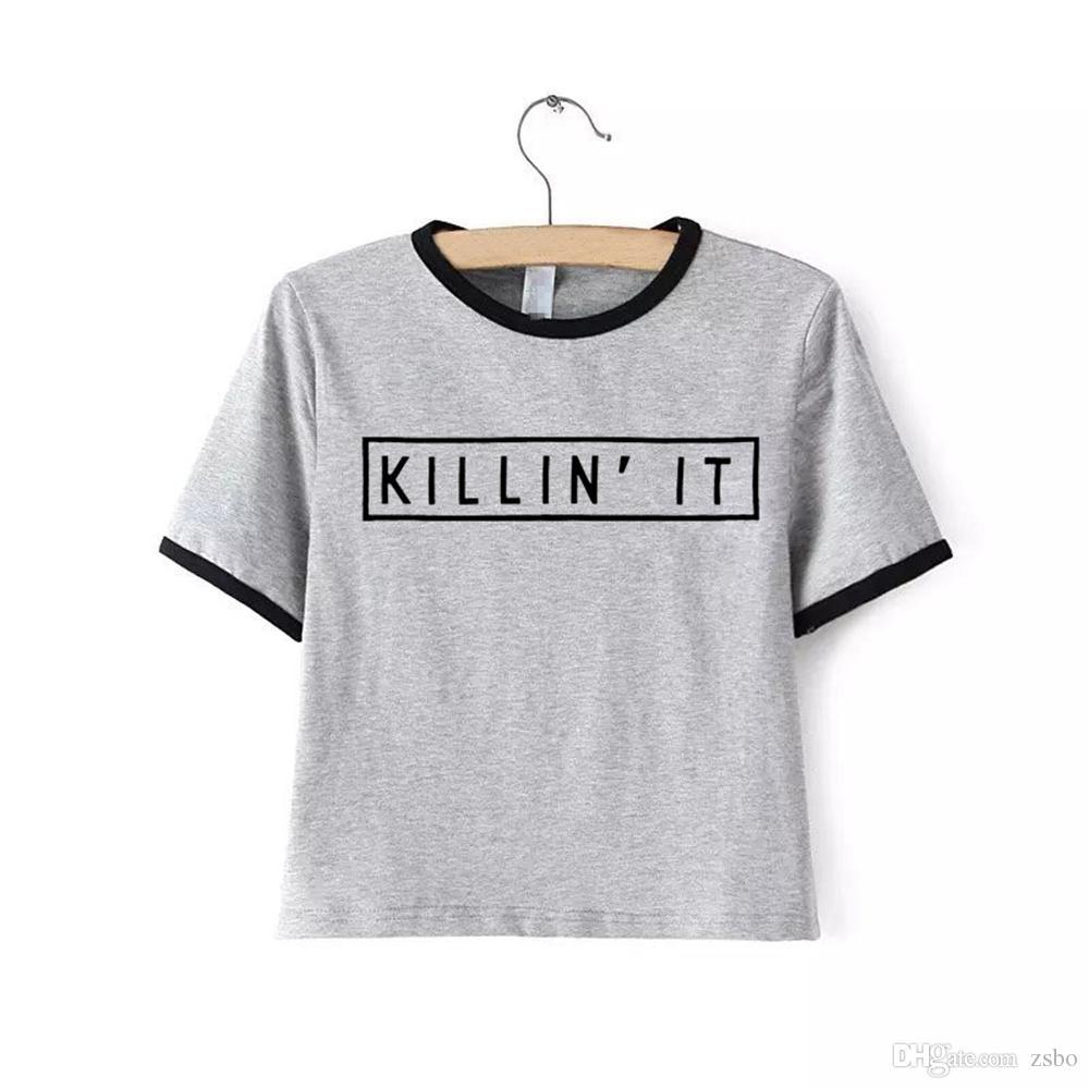 Kadın moda marka giyim t-shirt için T Shirt ÖLDÜRMEK kawaii en tees gömlek kadın sevimli üstleri tee mini tshirt NV11 RF