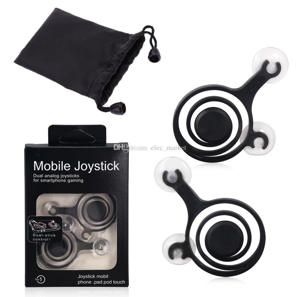 Fling Mini Joystick móvil Joysticks analógico dual Clip inteligente para iPhone Android OPPO VIVO ipad ipod Touch con paquete al por menor Envío de DHL
