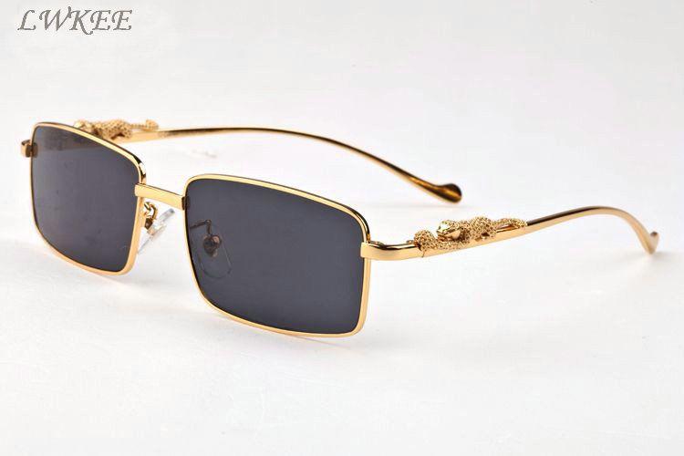 3242d6b74b 2017 Vintage Retro Brand Designer Polaroid Sunglasses For Men Cool Gold  Silver Leopard Pattern Metal Full Frame Black Brown Clear Lens Best  Sunglasses For ...