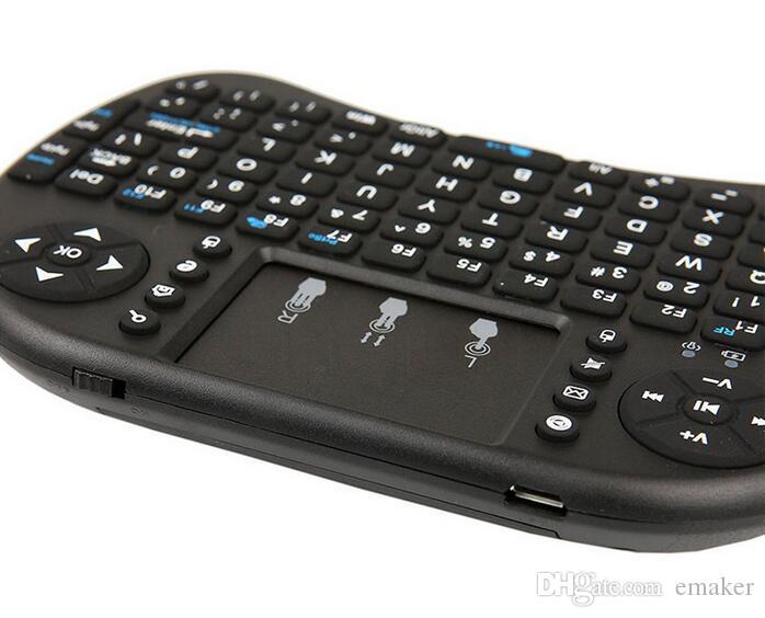 15X 2016 Drahtlose Tastatur rii i8 Tastaturen Fly Air Mouse Multimedia-Fernbedienung Touchpad Handheld für TV BOX Android Mini PC