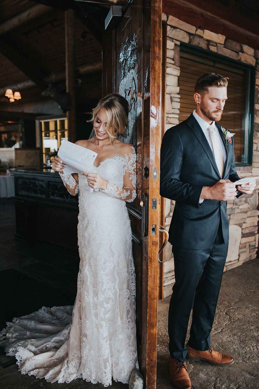 2017 New Romantic Frühling Herbst Long Sleeves Brautkleider Sheer Neck Full Lace Brautkleider Country Style Brautkleider
