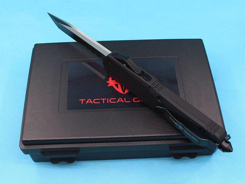 2017 New Allvin Manufacture A07 AUTO Tactical Knife 440C Single Edge Tanto Half Serrated Blade EDC Pocket Knife Survival Gear
