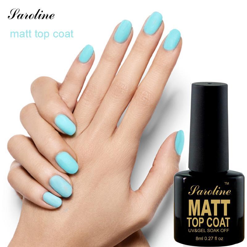 Wholesale Saroline Matt Top Coat Nail Art Uv Gel Polish 8ml Matte ...