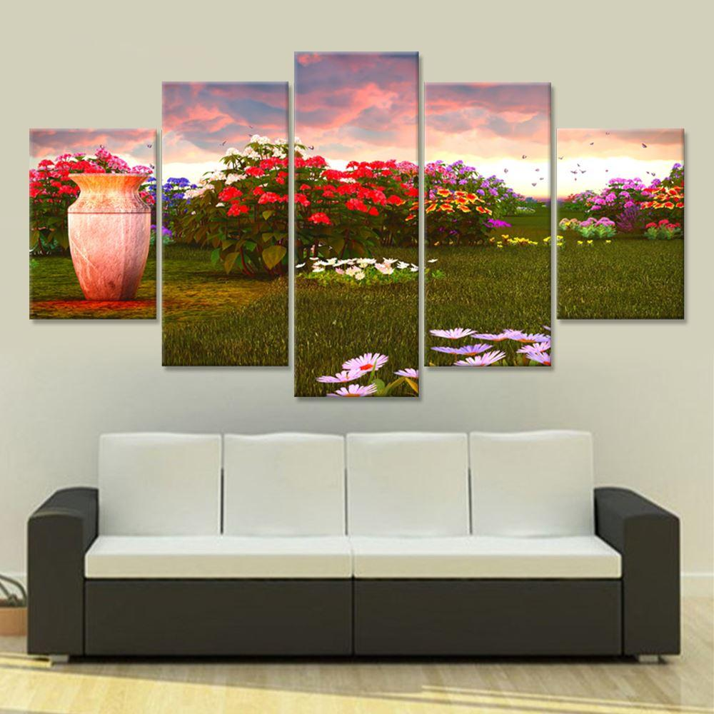 Drop Shipping Canvas Painting Home Decor Wall Painting Flower Garden  Landscape Painting For Living Room Restaurant Bedroom Unframed Canvas Paint  Wall Art ...