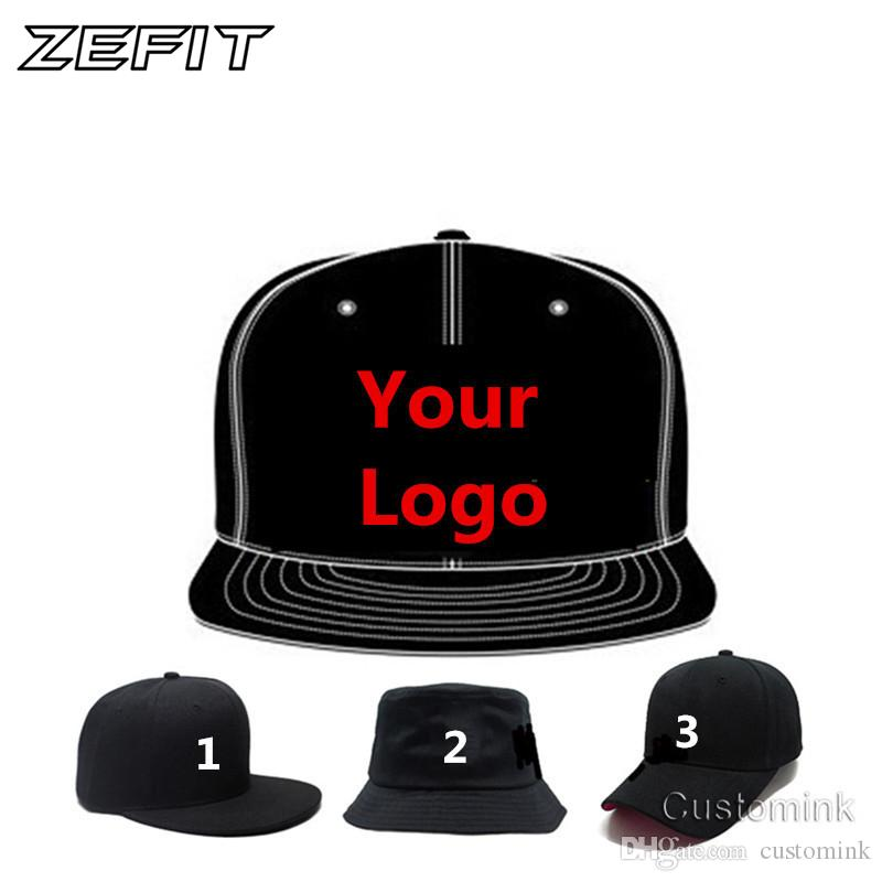 0ca6e3c768a748 Zefit Fast Shipping Wholesale Snap Back Adult Kid 3D Embroidery Logo Customize  Cap Custom Baseball Hat Custom Snapback Cap Custom Hat Caps For Men From ...
