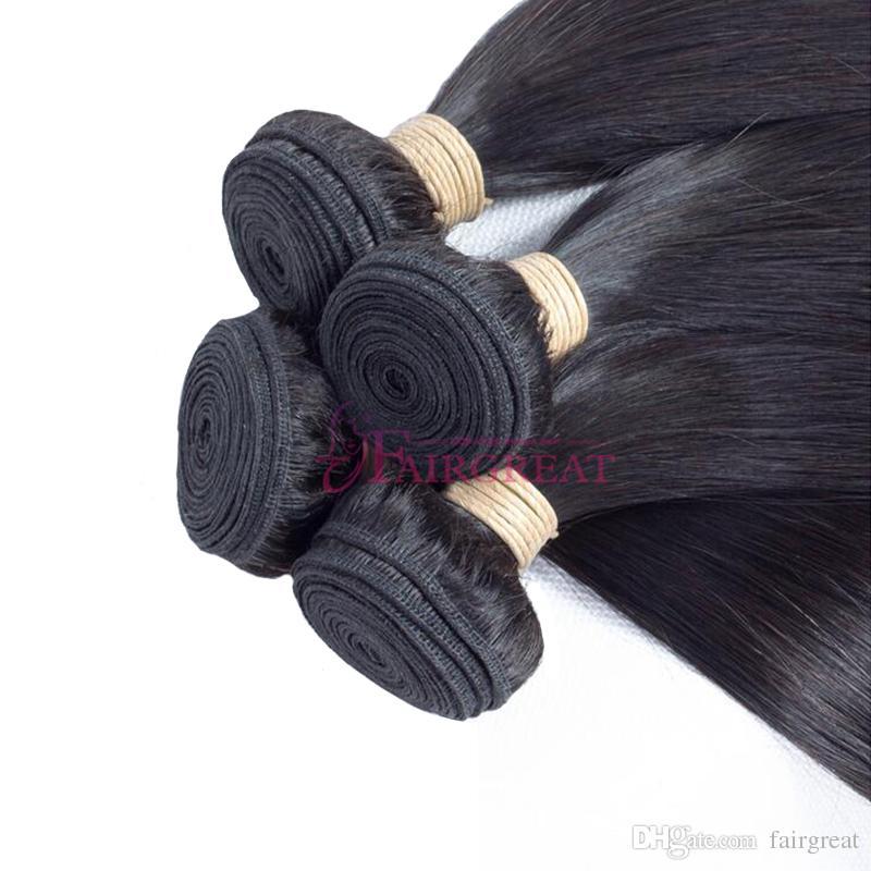 Brazilian Straight Human Hair Bundles 100% Unprocessed Brazilian Human Hair Extensions 8-28inch Cheap Brazilian Human Hair Weave Bundles