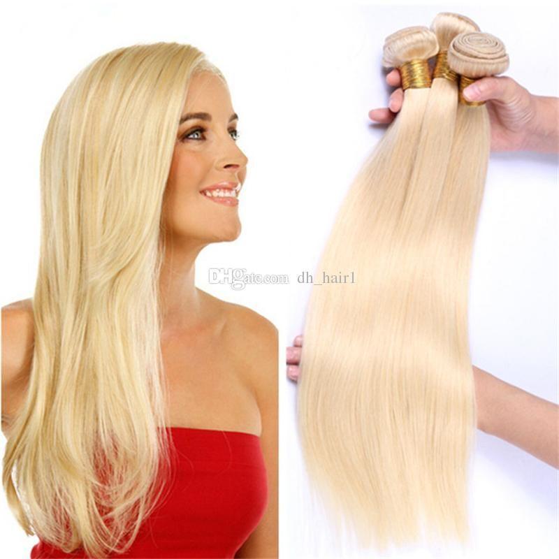 17a Pure Blonde Malaysian Straight Hair Bundles #17 Platinum ...