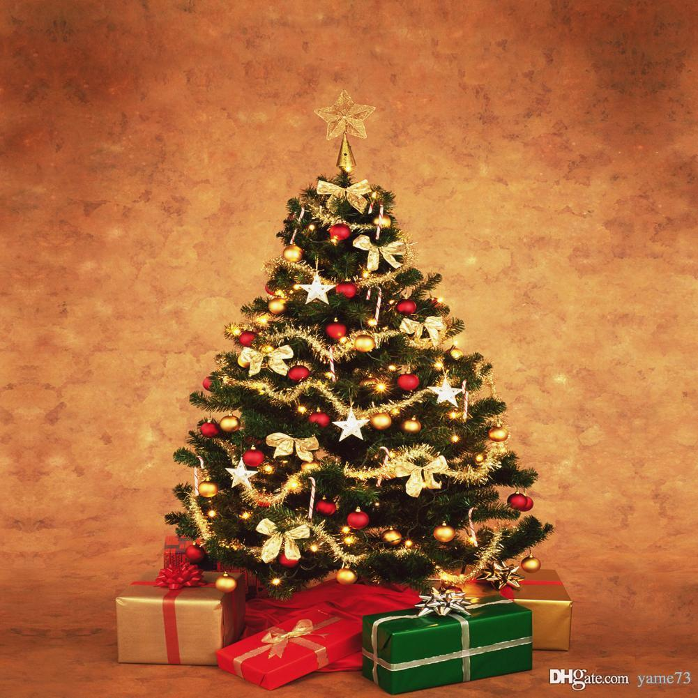 Christmas Gift Background: 2019 5x7ft Vinyl Digital Simple Big Christmas Tree Gifts