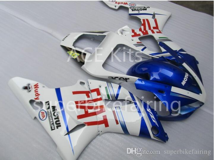 3Gifts New Hot sales bike Fairings Kits For YAMAHA YZF-R1 1998 1999 R1 98 99 YZF1000 Cool Blue White SX23