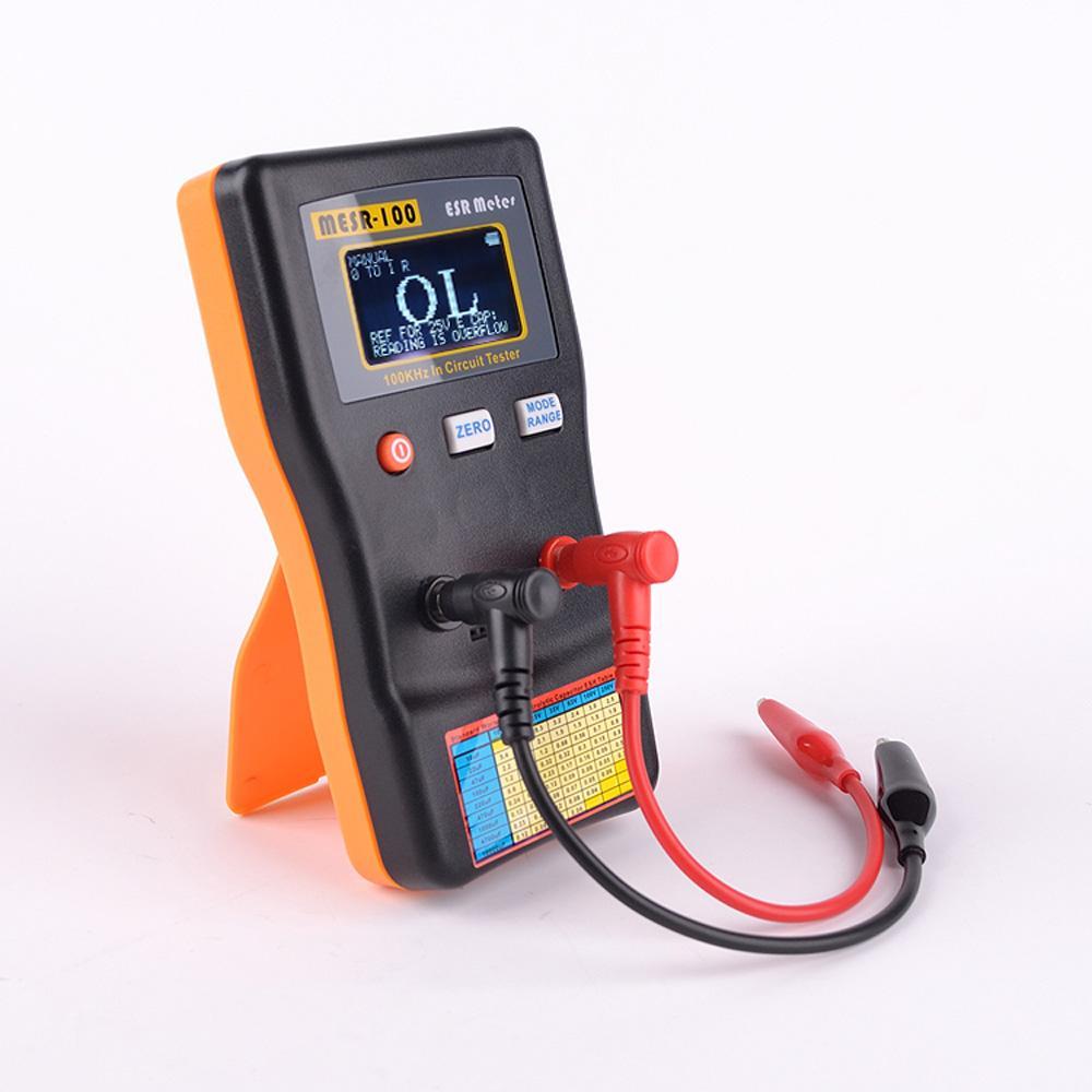 Freeshipping ESR Capacitancia Medidor de ohmios Medición de capacitancia de resistencia Capacitador de circuito de probador profesional