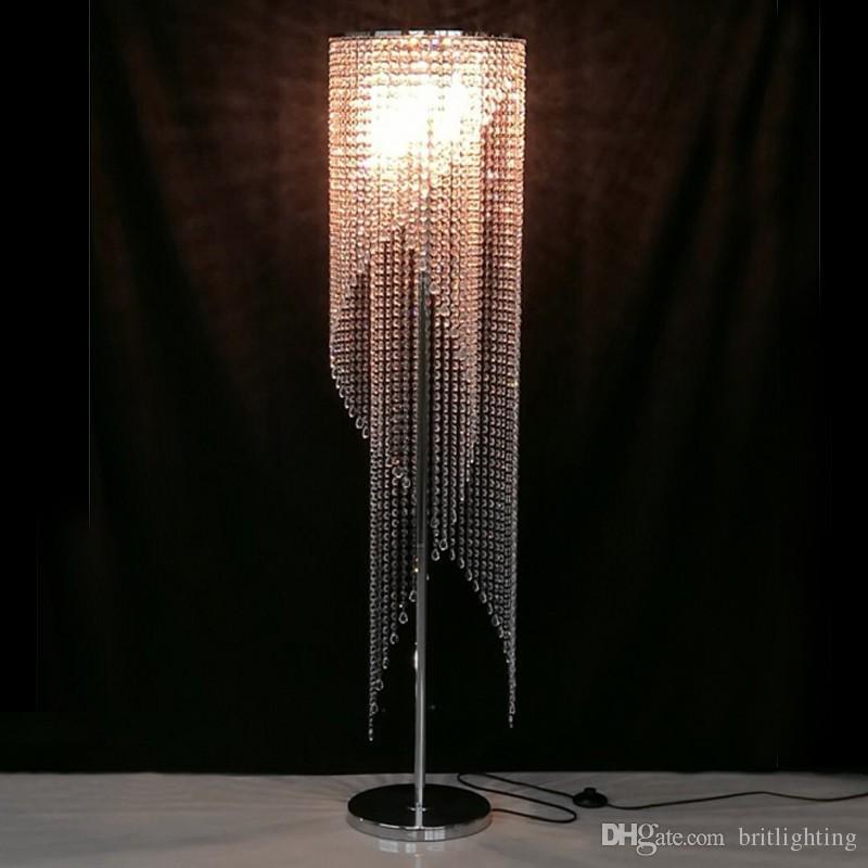 Großhandel Led Fashion Moderne Kristall Stehlampe Wohnzimmer Lichter ...