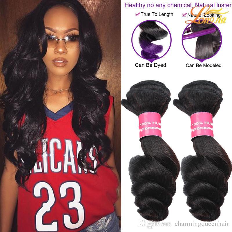 Factory 100brazilian Human Hair Loose Wave Cheap Indian Virgin