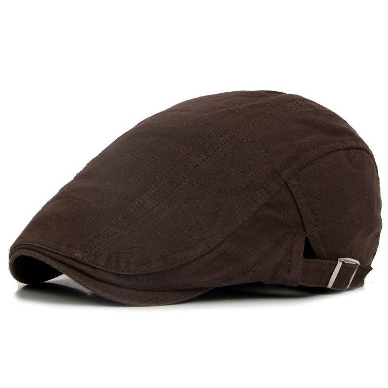 Adjustable Beret peaked Caps Spring Summer Outdoor Sun Breathable Bone Brim Hats Womens Mens Herringbone Solid Flat Berets Cap Hat