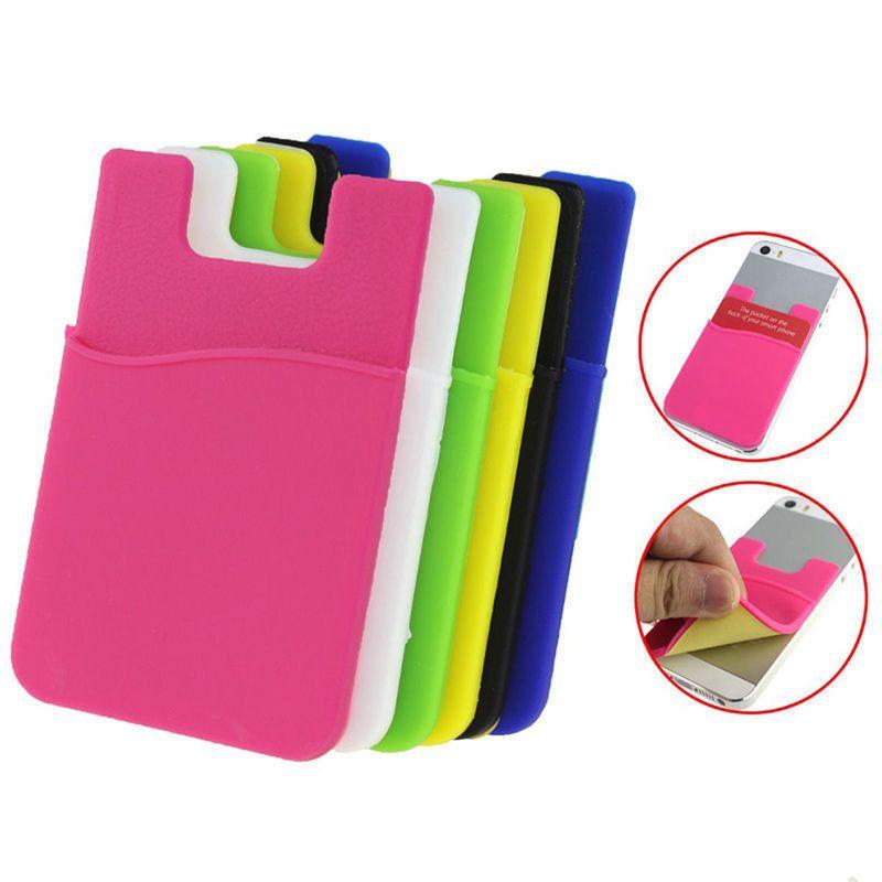 Acheter Titulaire De La Carte Telephone En Silicone Adhesif Porte Visite Sur Le Cartes Baton 6 Couleurs 019 Du