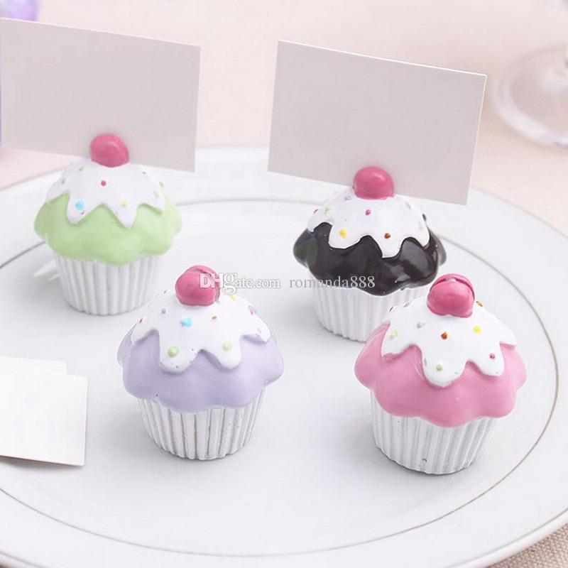 Cupcake Place Card Holder Wedding Favor And Decoration Card Holder