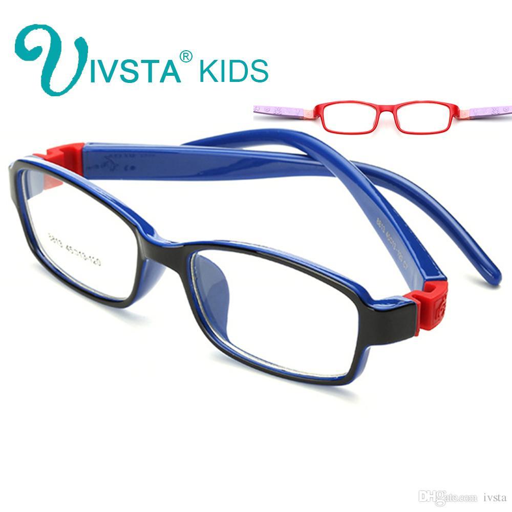 d9650f41ff3 2019 IVSTA No Screw Unbreakable TR Kids Frames Eyewear Boys Optical Glasses  Frame Girls Rubber Soft Flexible For Children Myopia 8813 From Ivsta