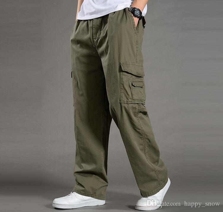 Tuta pantaloni casual da uomo T-shirt da uomo tattico militare con pantaloni cargo nuovi arrivi taglia XL-6XL