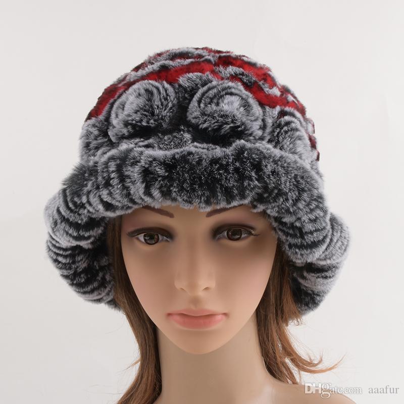 09d960cfa69dc Winter Hats Women 2017 Real Rex Rabbit Fur Cap Fur Headdress Warm Beanies  Fashion Female Cap Hats Headgear Fedora Hats For Women Hat Shop From  Aaafur