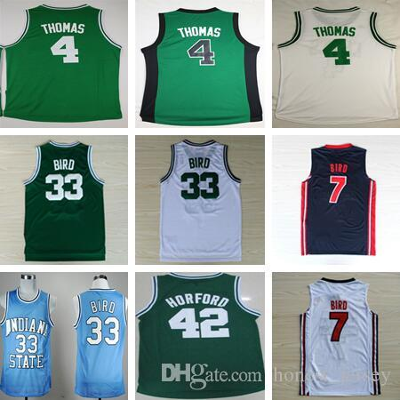 ed496319c97d ... Basketball 2017 2017 MenS 4 Isaiah Thomas Jersey Shirt 33 Larry Bird  Throwback 42 Al Horford Sttiched ...