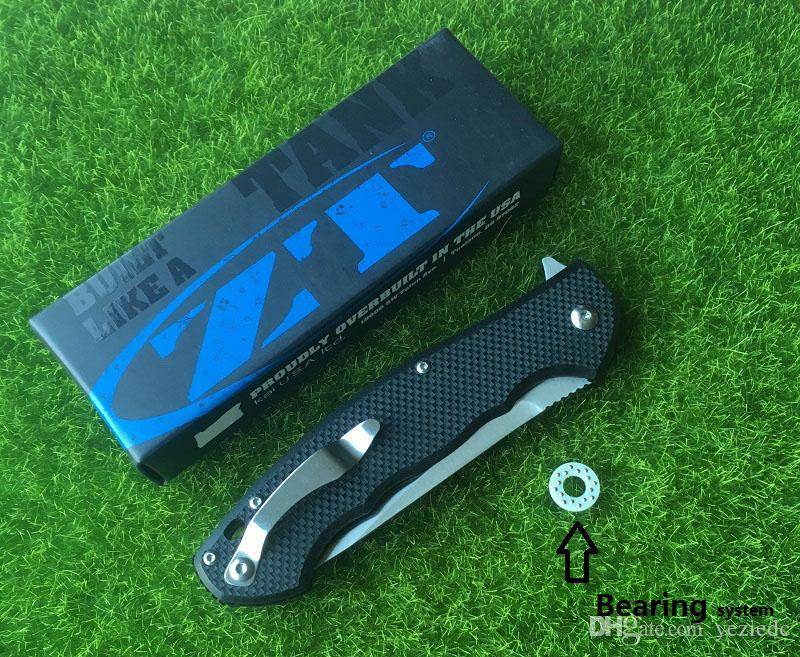 ZT 0454 tactical G10 fins folding knife 9 cr18mov blade processing ball bearing tools quick opening edc hunting outdoor camping tools