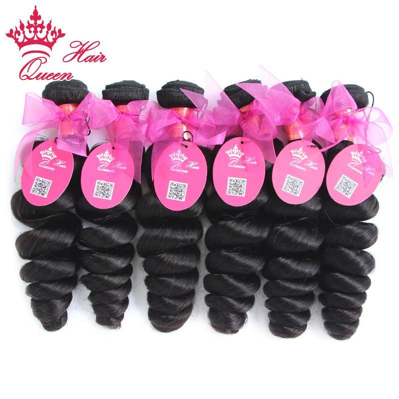 Königin-Haar-brasilianisches Jungfrau-Menschenhaar spinnen gewelltes am besten verkaufen natürliche Farbe Lose Wellenhaarverlängerungen Los gemischte Längen 8