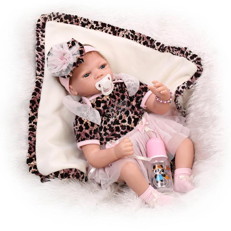 Realistic 22 Inch Silicone Reborn Newborn Girl Baby Doll Handmade