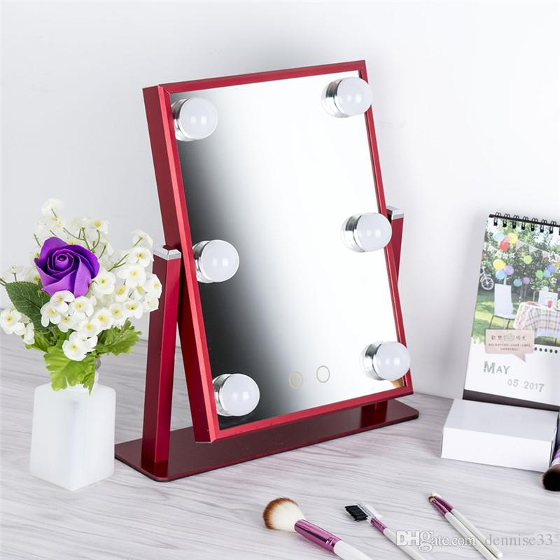 Adjustable Vanity Tabletop Lamp Salon Beauty Warm And Cool Lights Led Touch  Screen Mirror Makeup Bathroom Mirrors Magnifying Glass From Dennise33, ...