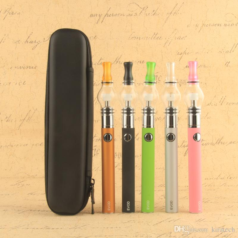 Waxy eVod vape pen starter kit wax vaporizer bowl waxing atomizer 510 ego charger dabber brush evod travel case electronic cigarettes china