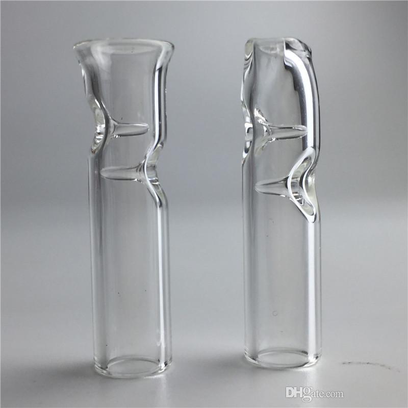 Mini puntas de filtro de vidrio para hierba seca Tabaco Papeles de enrollar CRUDO con el tenedor de cigarrillos del tabaco Pipas gruesas de vidrio colorido de Pyrex