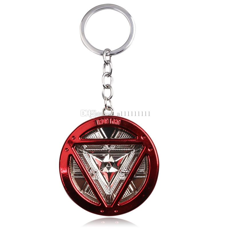 Free Shipping Iron Man Key Chain Superhero Iron Man Logo Alloy Pendant Fashion Personality Keychain Movie Jewelry Gift