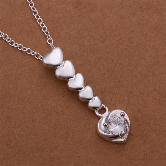 Sıcak satış kadınlar için çapraz yelken gümüş kaplama takı kolye WN668, güzel 925 gümüş Kolye Kolye ile zincir