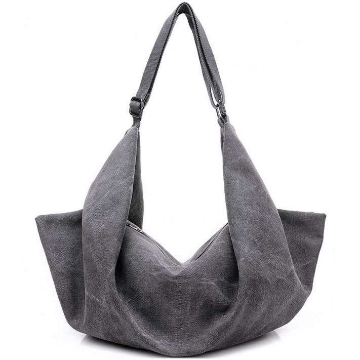 Unique Creative Shape Canvas Hobo Handbag Art Design Fashion Designer Brand  Ladies Weekend Tote Bag Shoulder Crossbody Backpack For Women Relic Purses  ... 5b226822e0552