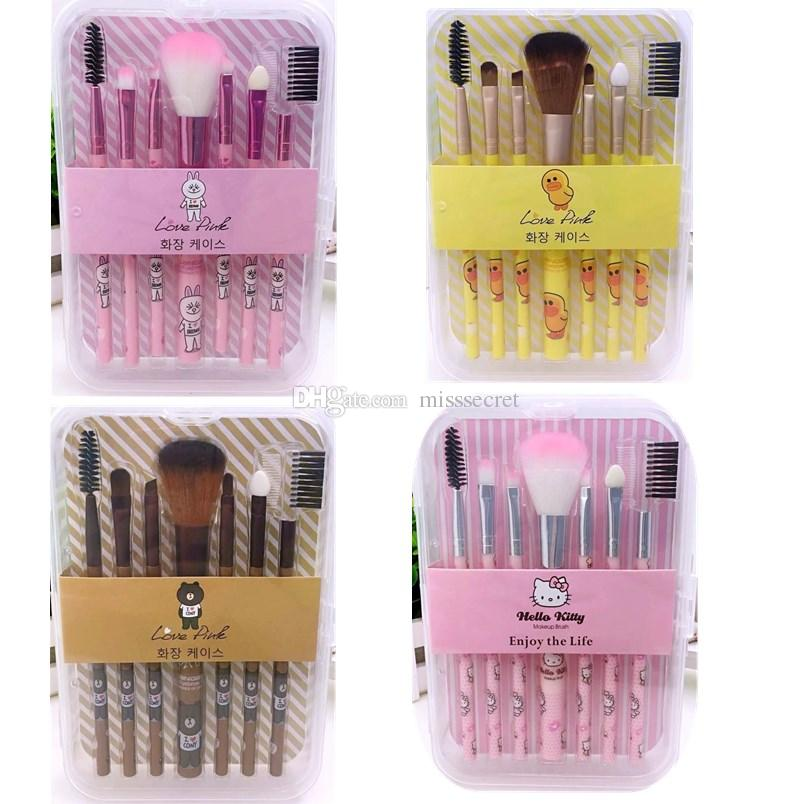 bd6014c51 Hello Kitty Makeup Brushes Set Cute Cartoon Makeup Brush Set Yellow Duck Make  Up Brush Tools Kit With Box Elf Cosmetic Elf Makeup Brushes From  Misssecret