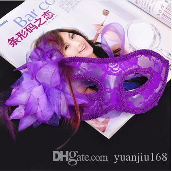 Masquerade Party Venice Dancing Mask Side Flower Sexy Lace Princess Mask Halloween Cosplay Performance Decoration Accessories