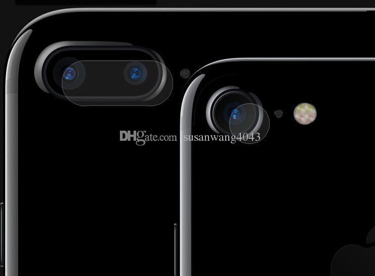 Teléfono lente de la cámara trasera HD protector de pantalla para iphone7 iphone 6 6s 7 más cámara trasera lente de vidrio Protector Película DHL libre BFM005