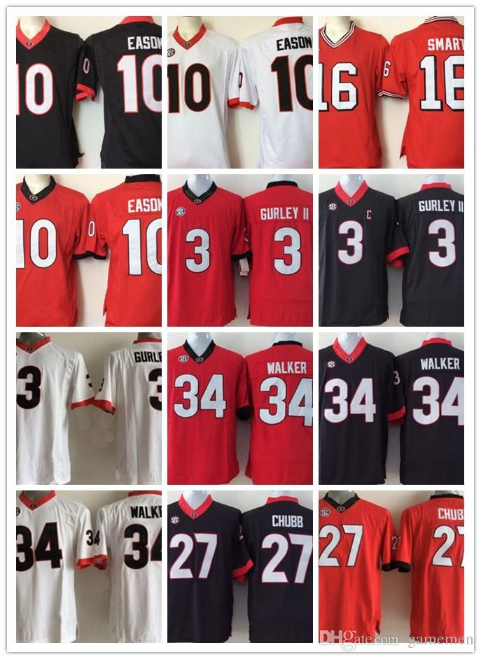 Youth Kirby Smart Georgia Bulldogs  3 Todd Gurley II 10 Jacob Eason White  Red Black Retired Stitched College Football SEC UGA Jerseys UK 2019 From  Gamemen ade246baf