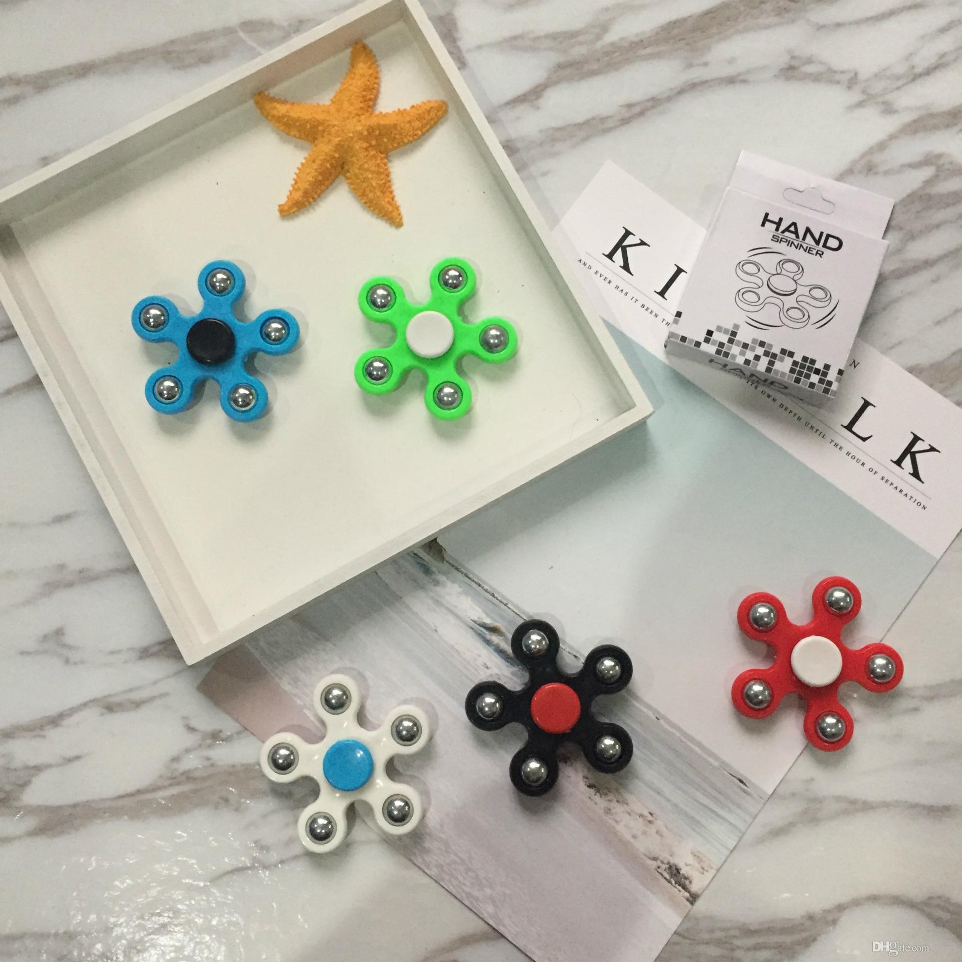 Best In Stock Five Pointed Star Spinner Fid Toy Hand Spinner