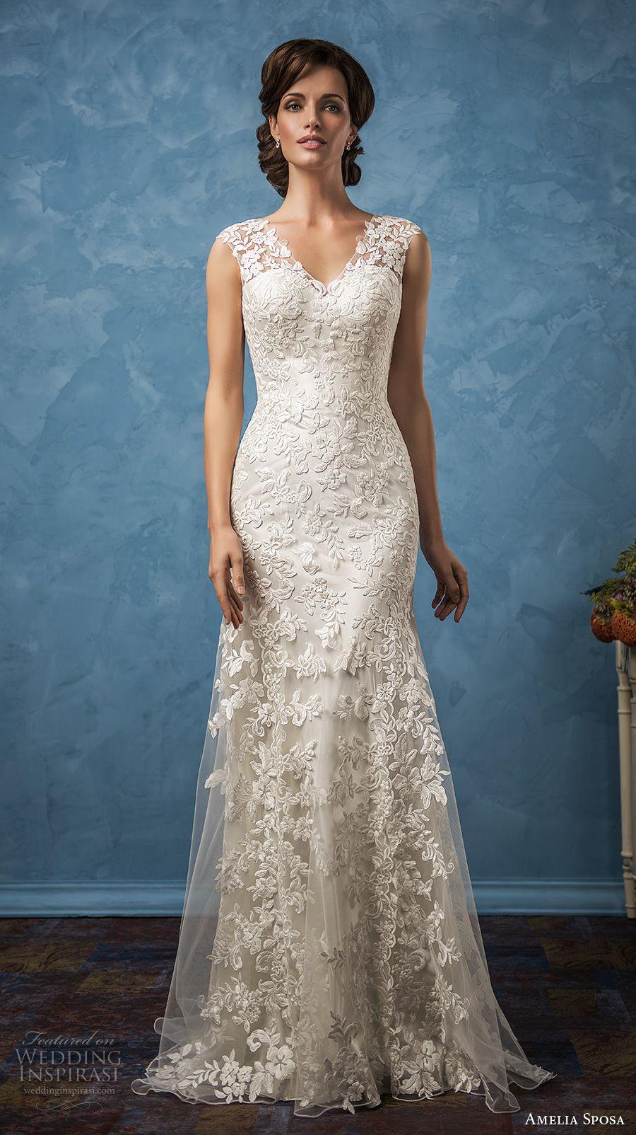 sheath mermaid wedding dresses 2017 amelia sposa bridal gowns v ...